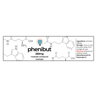 Phenibut 250mg Label | Nootropics Dubai, UAE