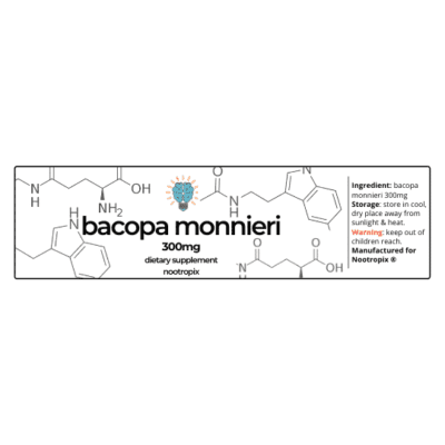 Bacopa Monnieri 300mg Bottle Label Nootropics UAE