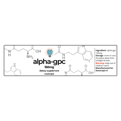 Alpha-GPC 150mg Capsules Bottle Label Nootropics Dubai UAE