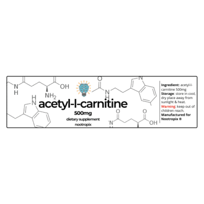 Acetyl-L-Carnitine 500mg Label | Nootropics Dubai, UAE