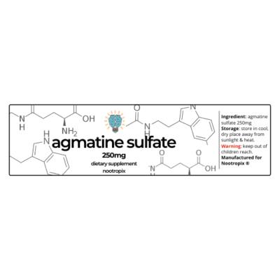 Agmatine Sulfate 250mg Label| Nootropics Dubai,UAE