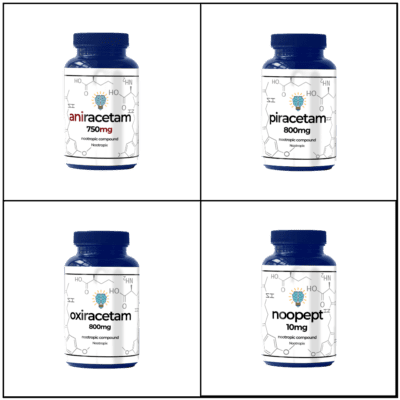 Beginner Racetam Sample Pack (15ct. of Aniracetam, Piracetam, Oxiracetam, Noopept)